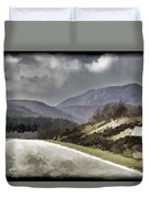 Highway Running Through The Wilderness Of The Scottish Highlands Duvet Cover
