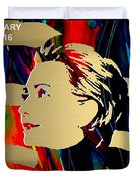 Hillary Clinton Gold Series Duvet Cover by Marvin Blaine