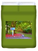 5 Hole Sign On  Golf Course 2 Duvet Cover