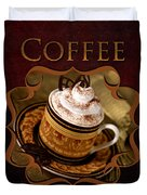 Cappuchino Coffee Gallery Duvet Cover