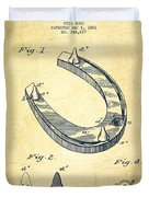 Horseshoe Patent Drawing From 1881 Duvet Cover