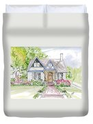 House Rendering Duvet Cover