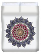 Kaleidoscope Colorful Jeweled Rhinestones Duvet Cover