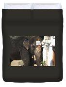 Lakshmi Temple Elephant Duvet Cover