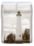 Lighthouse - Tawas Point Michigan Duvet Cover