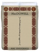 Macdowell Written In Ogham Duvet Cover