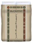 Mccarthy Written In Ogham Duvet Cover