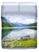 Mountain Lake In Jasper National Park Duvet Cover