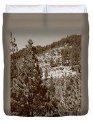 Mountainside Near Lake Tahoe Duvet Cover