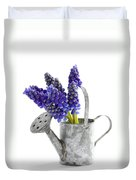 Muscari Or Grape Hyacinth Duvet Cover