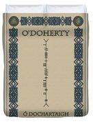 O'doherty Written In Ogham Duvet Cover