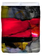 Ohio State Map Watercolor Duvet Cover
