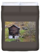 Old Rustic House Duvet Cover