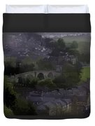 Old Stirling Bridge And Houses As Visible From Stirling Castle Duvet Cover