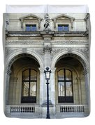 Ornate Architectural Artwork On The Buildings Of The Musee Du Louvre In Paris France Duvet Cover