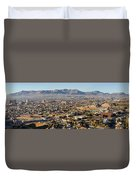 Panoramic View Of Skyline And Downtown Duvet Cover