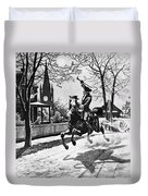 Paul Reveres Ride, 1775 Duvet Cover