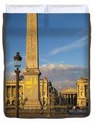 Place De La Concorde Duvet Cover