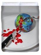Reflected Globe Duvet Cover