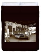 Route 66 Corvette Duvet Cover