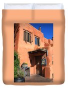 Santa Fe Adobe Building Duvet Cover