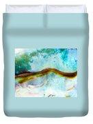 Shiny Nacre Of Paua Or Abalone Shell Background Duvet Cover