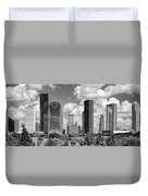 Skyscrapers In A City, Houston, Texas Duvet Cover