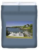 South Bristol On The Coast Of Maine Duvet Cover