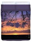 Spectacular Sunset Epsom Downs Surrey Uk Duvet Cover
