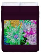 Stained Glass Flowers Duvet Cover