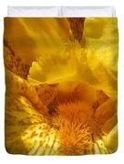 Tall Bearded Iris Named Saharan Sun Duvet Cover