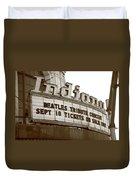 Terre Haute - Indiana Theater Duvet Cover