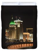 The Bund, Shanghai Duvet Cover