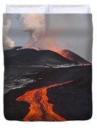 Tolbachik Volcano Erupting Kamchatka Duvet Cover