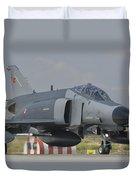 Turkish Air Force F-4 Phantom At Konya Duvet Cover