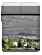 View Of Wallace Monument And Surrounding Areas Duvet Cover