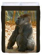 Western Lowland Gorilla Male Duvet Cover