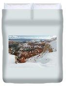 Winter Scene, Bryce Canyon National Park Duvet Cover