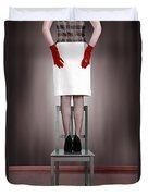 Woman On Chair Duvet Cover