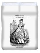 Women's Fashion, 1860 Duvet Cover