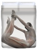 Yoga Bow Pose Duvet Cover