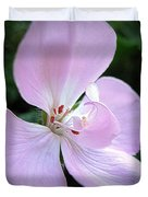 Zonal Geranium Named Tango Light Orchid Duvet Cover