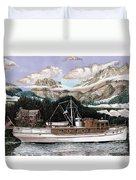 North To Alaska On A 53 Foot Classic Yacht  Duvet Cover