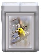 5393-006 - Pine Warbler-fb Duvet Cover