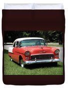 55 Chevy Duvet Cover
