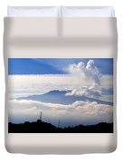 View Of Mt. Etna From Taormina Sicily Duvet Cover