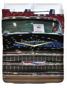 '57 Chevy Bel Air Show Car Duvet Cover