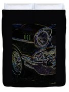 57 Chevy Glow Duvet Cover by Steve McKinzie