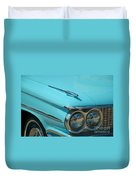 59 Pontiac Catalina Hood Ornament Duvet Cover