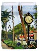5th Avenue Naples Florida Duvet Cover